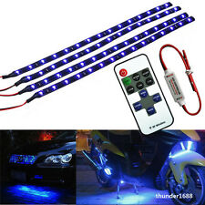 """Motorcycle Blue Flexible 12"""" 30CM LED Light Strip With Wireless Remote For Honda"""