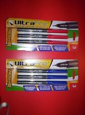 ProMarx  Ultra Fine ~Signature Pen~ RED INK/BLUE INK~~LOT OF 2 PACKS