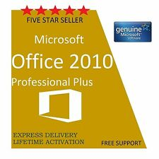 ORIGINAL OFFICE PROFESSIONAL PLUS 2010 32 /64BIT LICENSE KEY SCRAP PC