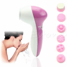 6 IN 1 Electric Face Facial Skin Care Massager Scrubber Cleansing Cleaner Brush