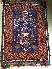 29.5x20 Vintage Hand Knotted Bag Pillow Wool Oriental Rug