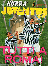 HURRA JUVENTUS=N°5 1996=FINAL CHAMPIONS LEAGUE= AJAX= POSTER DEL PIERO/VIALLI