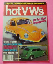 DUNE BUGGIES AND HOT VWs MAGAZINE JAN/1990..VW PRO-STOCK GROUNDPOUNDER..