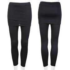 Women Stretch Skinny Skirt Leggings Footless Cotton Blend Skirt Stretch Pants OE