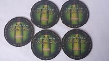 5 Anheuser World Select Beer Coasters