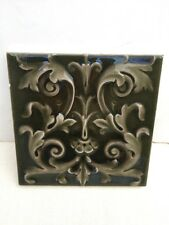 Old Vintage Antique 6x6 AE American Encaustic Co Art Pottery Glazed Ceramic Tile