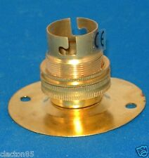 BRASS BATTEN ANTIQUE RETRO VINTAGE UNSWITCHED BAYONET CAP B22 LAMPHOLDER FITTING