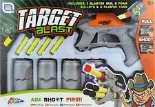"SCATOLA di latta destinazione Blast SHOOTING GAME-PISTOLA & SCHIUMA Freccette SHOOT EM ""UP TOY r01-0080"