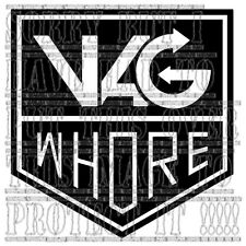 VAG WHORE LUPO POLO GOLF GTI TURBO R32 S3 S4 S6 graphic sticker vinyl sidestripe