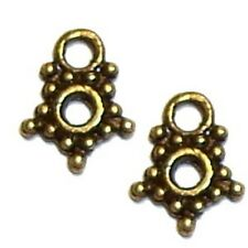 100 pieces Bronze Tone Alloy Charm Pendants - A0188