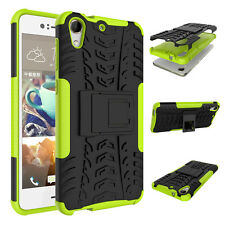 Heavy Duty Armor Hybrid ShockProof Silicon Hard Case Cover For HTC Desire 728