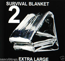 2 XL Emergency Winter BLANKETS Back Pack Camping Hunting Survival Bushcraft BOB