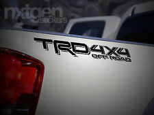 (2x) TRD 4x4 OFF ROAD Matte Black Toyota Tacoma 2016 Vinyl Decals Stickers