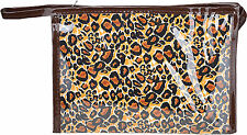 Cute Retro LEOPARD 50s Pin Up Leo Cosmetic Bag - Braun Rockabilly