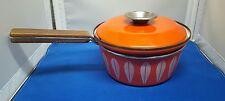 Cathrineholm Norway Sauce Pot Pan orange Lotus Danish Modern
