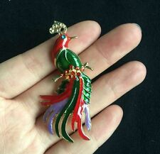Fashion Cute Colorful Peacock Crystal Enamel Brooch Pin Charm Gift For Women