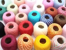 U PICK COLORS. FREE SHIP CLEA LOT 20 BALLS #10 CROCHET COTTON THREADS YARN KNIT