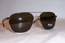 NEW HUGO BOSS Sunglasses 0701/S H16-EC SILVER HORN/BROWN AUTHENTIC 701