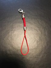 Red Keychain Cell Phone Accessory, Digital Camera Loop Design With Clip