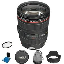 Brand New Canon 24-105mm f/4L IS USM Lens w/ UV Filter & Lens Cleaning kit
