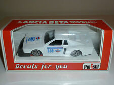 Lancia BETA MONTECARLO TURBO POLISTIL 1/41 MADE in ITALY SCATOLA e DECALS NUOVA