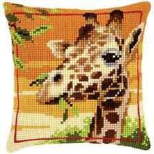 Giraffe - Large Holed Printed Tapestry Cushion Kit - Chunky Cross Stitch Kit