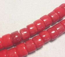 Red White Heart Beads, Approximately. 8mm D x 6mm W and 65 Beads