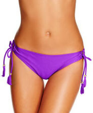 Raisins Bikini Bottom Sz XL Purple Side Tie Sweet Pea Pant With Fringe Bottoms