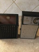 VINTAGE HITACHI 6 TH-620 TRANSISTOR 6 RADIO w/CASE  japan