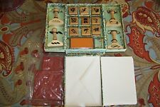 Billy Bosun's 13 Rubber Stamps & Stationary Kit, Of The Deep Blue Sea, NIB