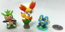 "Pokemon 1.5"" Black & White XY Figures Chespin Fennekin Froakie Figure (Set of 3)"