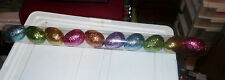 10 Pack of Gorgeous Glitter Easter Eggs! Perfect for Wreaths or Crafts or Decor!
