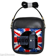 Tardis Doctor Who Union Jack Personalized Leather Girls Sling Bags Wallet Purse