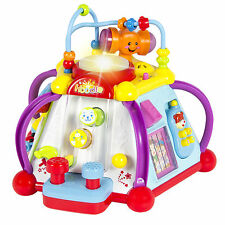 Baby Toy Musical Activity Cube Play Center with Lights,15 Functions & Skill