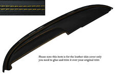YELLOW STITCH TOP DASH DASHBOARD LEATHER COVER FITS BUICK LESABRE COUPE 1960