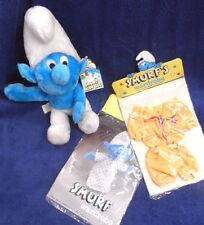 Vintage New SMURF Doll & 2 SETS Clothes With Tags 600 series Wallace Berrie 1979