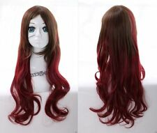 W-21 rot braun red brown mix 70cm Harajuku Lolita Locken COSPLAY Perücke WIG