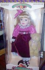 VICTORIAN COLLECTION Genuine Porcelain Doll by Melissa Jane w/ Matching Ornament