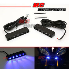 Flush Mount Blue LED Accessories Light For Yamaha FZ6N YZF R1 R6 R6S 06-11