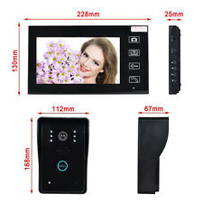 Wireless 7'' LCD display Video Door Phone Intercom Security Entry System Monitor