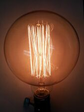 "Simple Vintage G125 Edison Light Bulb E26 60W CLEAR 5"" Globe Squirrel Cage"