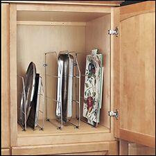 """Kitchen RV Cabinet Drawer Lid Bakeware Organizer Storage Divider Holder Rack 18"""""""