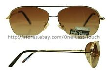 EXTREME OPTIKS* Polar Vision SCOUT Unisex Sunglasses GOLD Eliminate Glare PILOT
