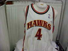 NBA 1999-2000 Atlanta Hawks #4 Roshown McLeod Game Worn Jersey Champion Sz 48