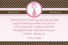 30 Giraffe Thank You Card Notes Purple Birthday Baby Girl Shower