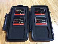 SanDisk 64GB Extreme Pro CompactFlash Memory Card x 4 with Pelican 0945 case