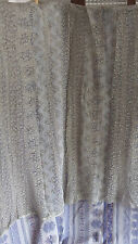 French Vintage Delicate Lace Pretty Design Pair of small Curtains c 1910 - 1920
