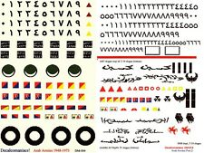 1/35 Decals, Decalcomaniacs, Arab Armies Combo Pack