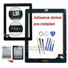 For iPad 2 Touch Screen Digitizer Front Glass With Home Button Adhesive Black UK