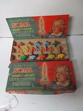 10 Vintage Noma C-6 Biscuit Christmas Bubble Lights in Original GIRL Box